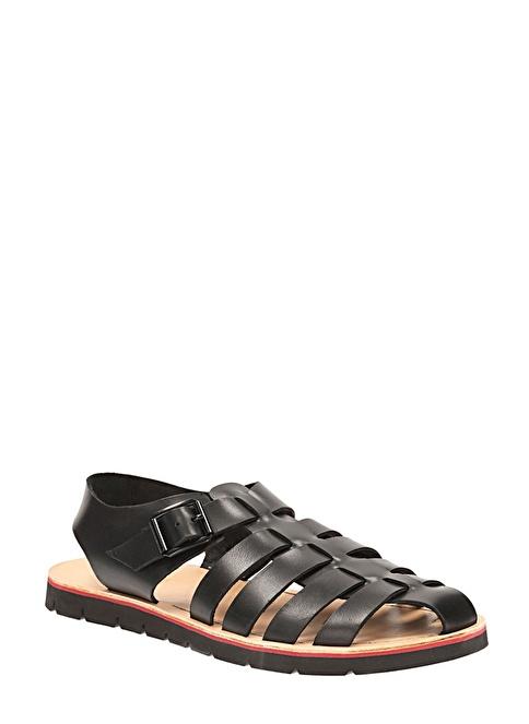 Clarks Deri Sandalet Siyah